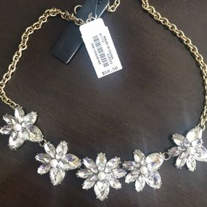J. Crew Factory Crystal Floral Statement Necklace